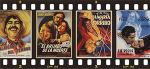 Filmstrip with Mexican film poster images